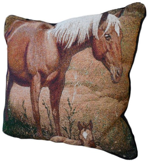 A Time to Rest Tapestry Pillow by Wayne Baize