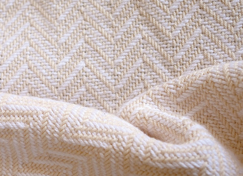 Brahms Mount White and Natural Madison Full Bed Blanket