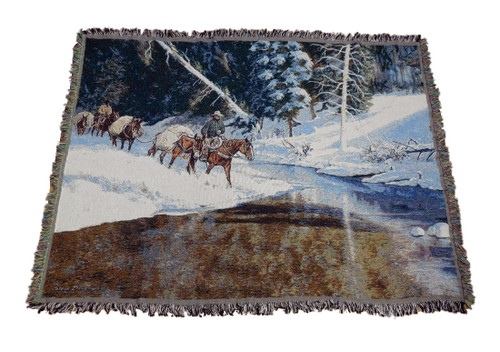 Winters Glory Horse Tapestry Throw by Steve Devenyns