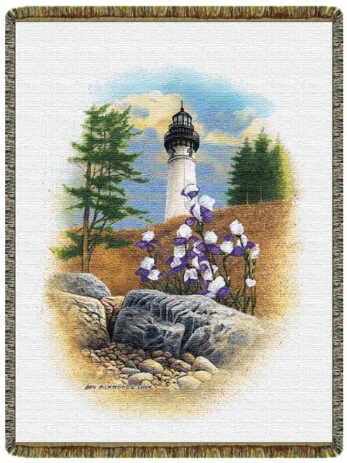Wild Iris Lighthouse Tapestry Throw LC10109