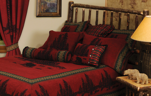 Wooded River Bear Bedspread