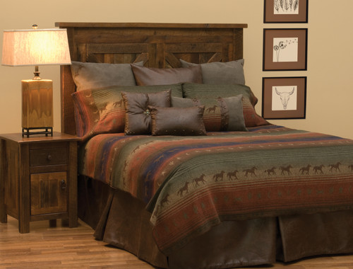Wooded River Mustang Canyon II  Bedding Ensemble
