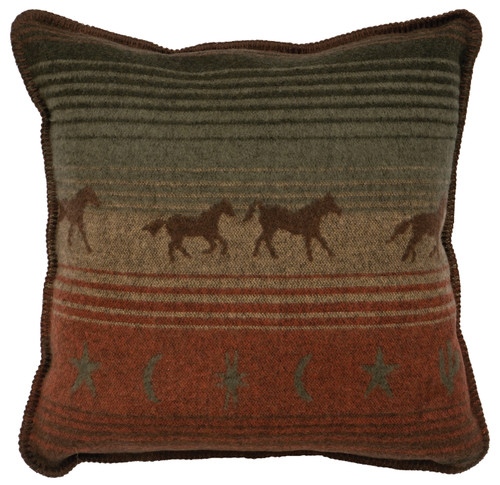 Wooded River Mustang Canyon Pillow