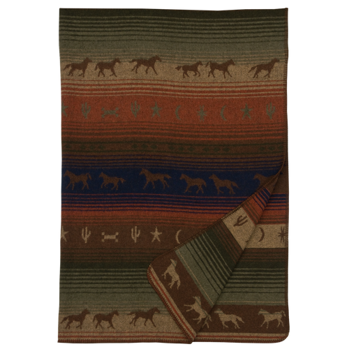 Wooded River Mustang Canyon Throw