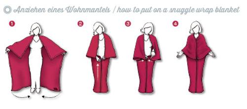 Fano Snuggly Zipper Blanket Wrap directions