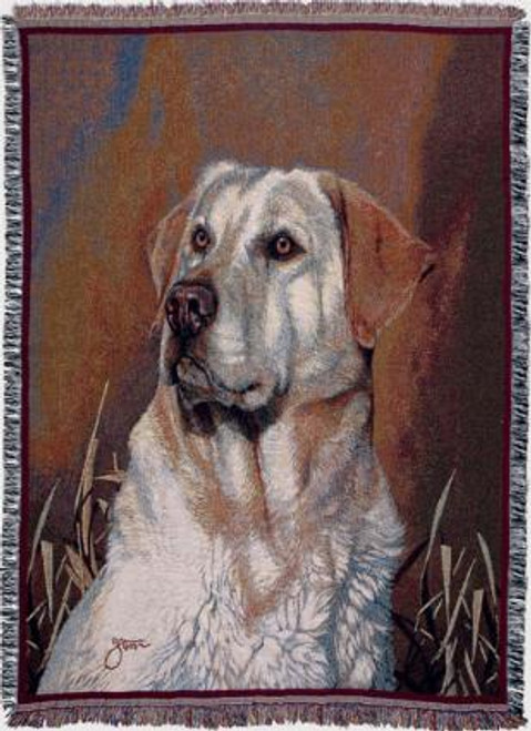 Yellow Lab Portrait Tapestry Throw WT-TP817