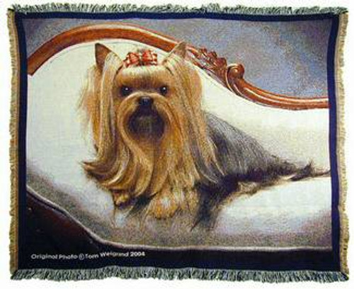 Yorkie Terrier Dog Tapestry Throw