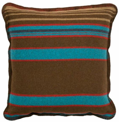 Wooded River Tombstone Fabric Pillow