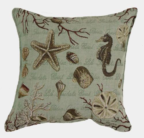 Ocean Life Tapestry Pillow PTP994