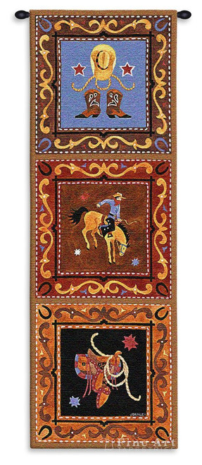 Cowboy Wall Tapestry 5568-WH