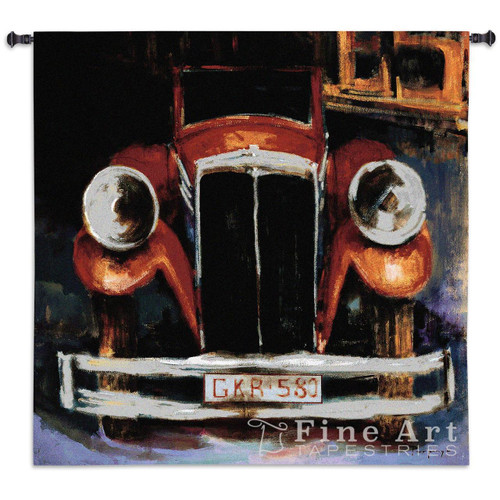 GKR 580 Antique Car Wall Tapestry 3574-WH