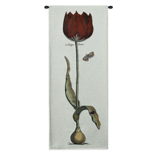 Red Tulipa Duris Wall Tapestry