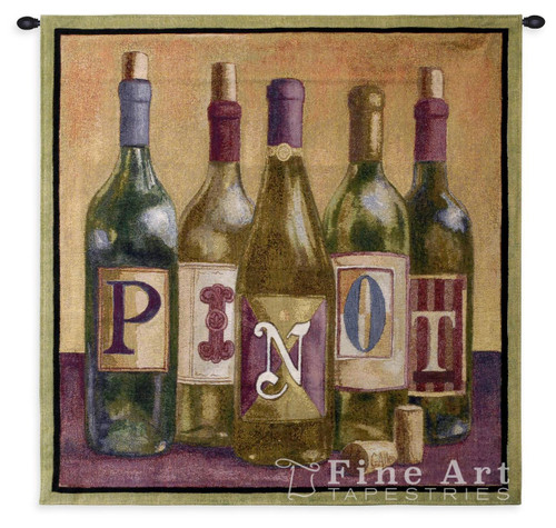 Pinot Wall Tapestry 3790-WH