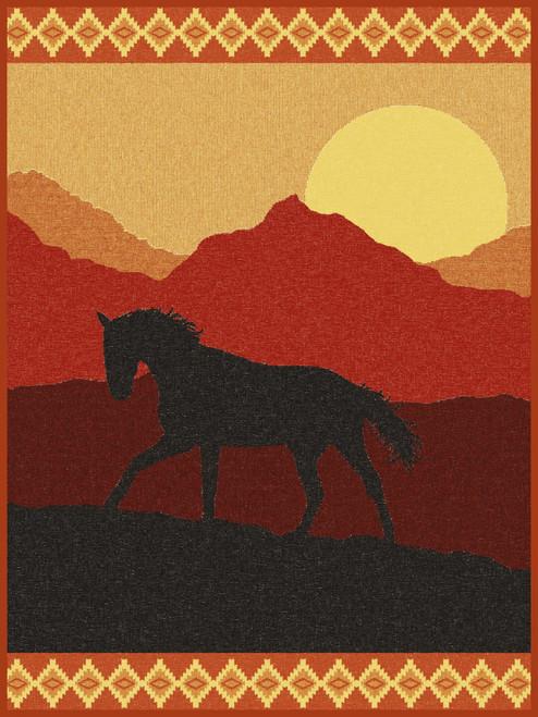 Fuego Stallion At Sundown Horse Blanket