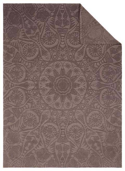 Ibena Celestial Brown Textured Blanket