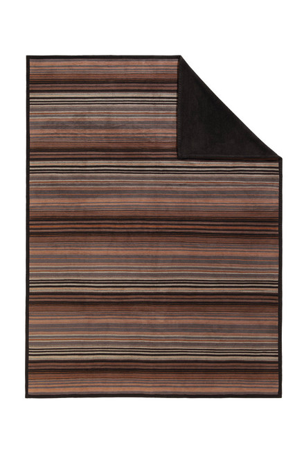 Ibena Messina Chocolate Stripe Blanket