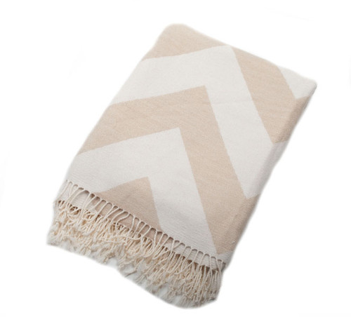 Chevron Cappucino Throw Blanket