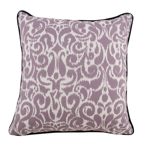 Adrianna Corded Medallion Ikat Damask Pillow with insert