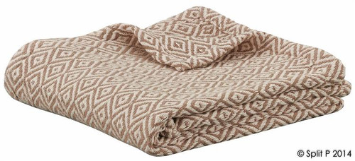Sand and Natural Diamond Cotton Throw