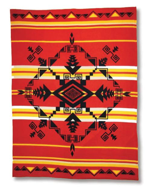 Pacific Blanket Gods Eye Red Polar Fleece Blanket