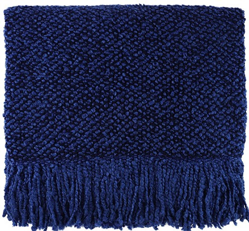 Kennebunk Home Campbell Indigo Acrylic Throw Blanket