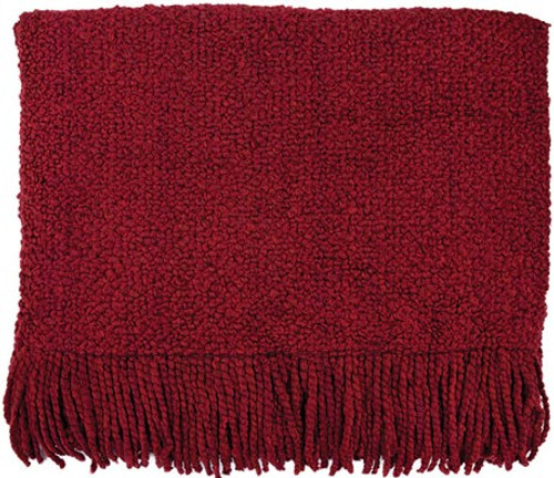 Kennebunk Home Campbell Scarlet Throw Blanket