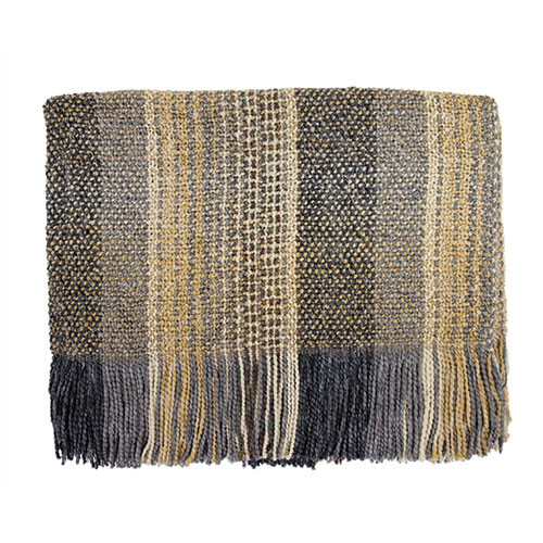 Kennebunk Home Dover Platinum Throw Blanket