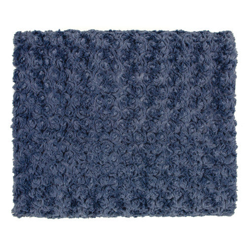 Kennbunk Home Rose Petal Throw Faux Fur - Denim