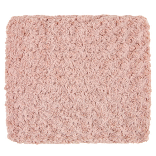 Kennebunk Home Rose Petal Dusty Rose Faux Fur Throw Blanket