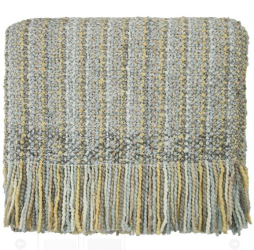 Kennebunk Home Stria Silver Throw Blanket