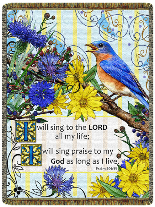 Sing Praise Tapestry Throw Blanket (52x68 Inches)