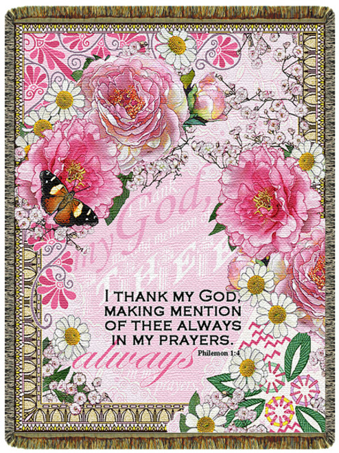 Always In My Prayers Tapestry Throw Blanket (52x68 Inches)