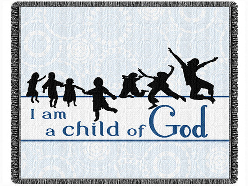"""I Am A Child Of God 60"""" 2 Layer Throw Blanket (60x48 Inches)"""