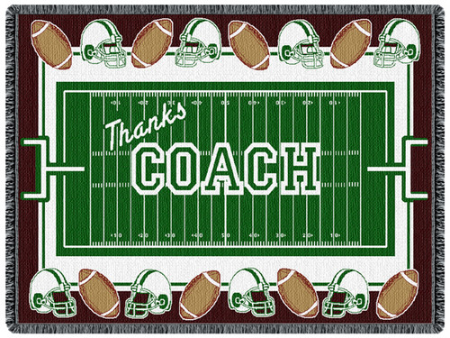 Coach - Football 2 Layer Throw Blanket (68x48 Inches)