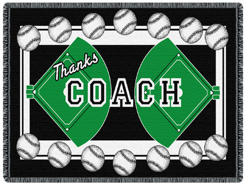 Coach - Baseball 2 Layer Throw Blanket (68x48 Inches)