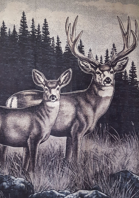 Ibena Sorrento Stag Deer Blanket