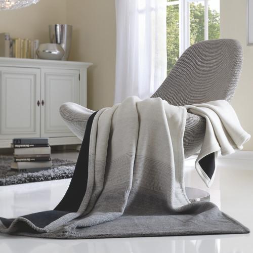 Ibena Solare Pretty Pursian Grey and Black Blanket