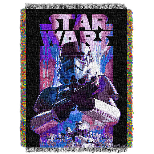 "Star Wars ""Storm Ahead"" Woven Tapestry Throw Blanket"
