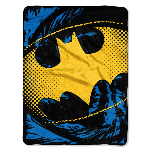 Batman - Ripped Shield Micro Raschel Throw Blanket