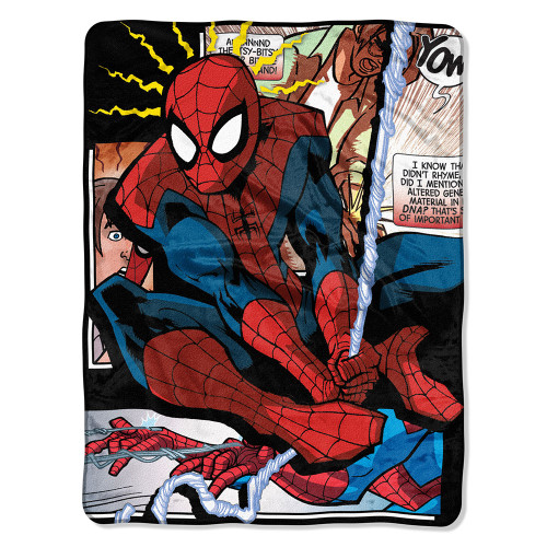 Spiderman - Spider Origins Micro Raschel Throw Blanket