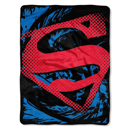 Superman - Super Ripped Shield Micro Raschel Throw Blanket