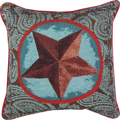 Western Star Red Pillow