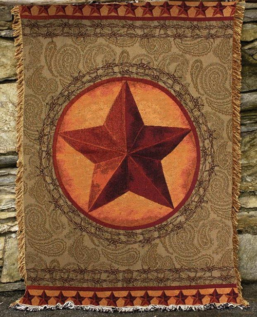 Western Star Tapestry Throw Blanket