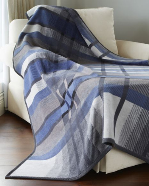 Biederlack Sterling Blue Blanket