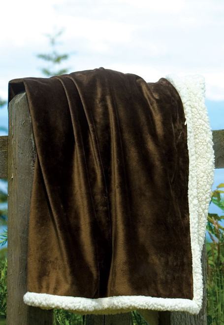 Kanata Country Faux Lambswool Throw  - Black