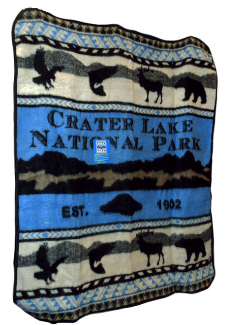 Crater Lake National Park Throw Blanket