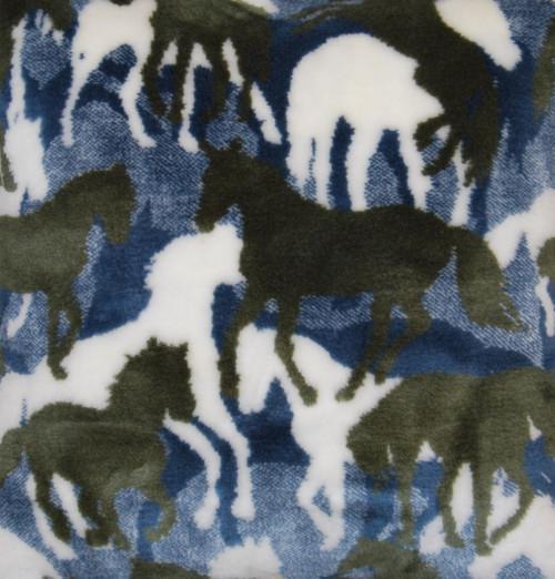 Denali Theme-O-Flage Horses Sage fabric