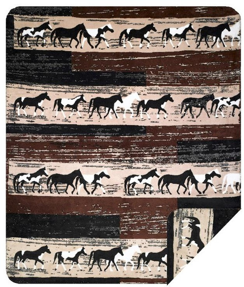 Denali Horses Double Sided Throw