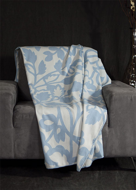 Leafy Sky Throw Blanket by Bedford Cottage