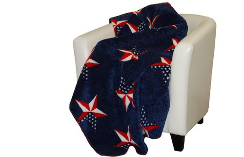 All American/Atlantic Blue #569 60x70 Inch Throw Blanket